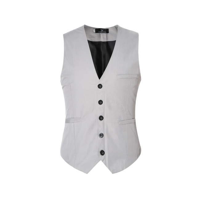 2017 Fashion Slim Fit Plaid Men Waistcoat Tops Spring Autumn New Man Suit Vest Hot Sale High Quality Suit Vest Male
