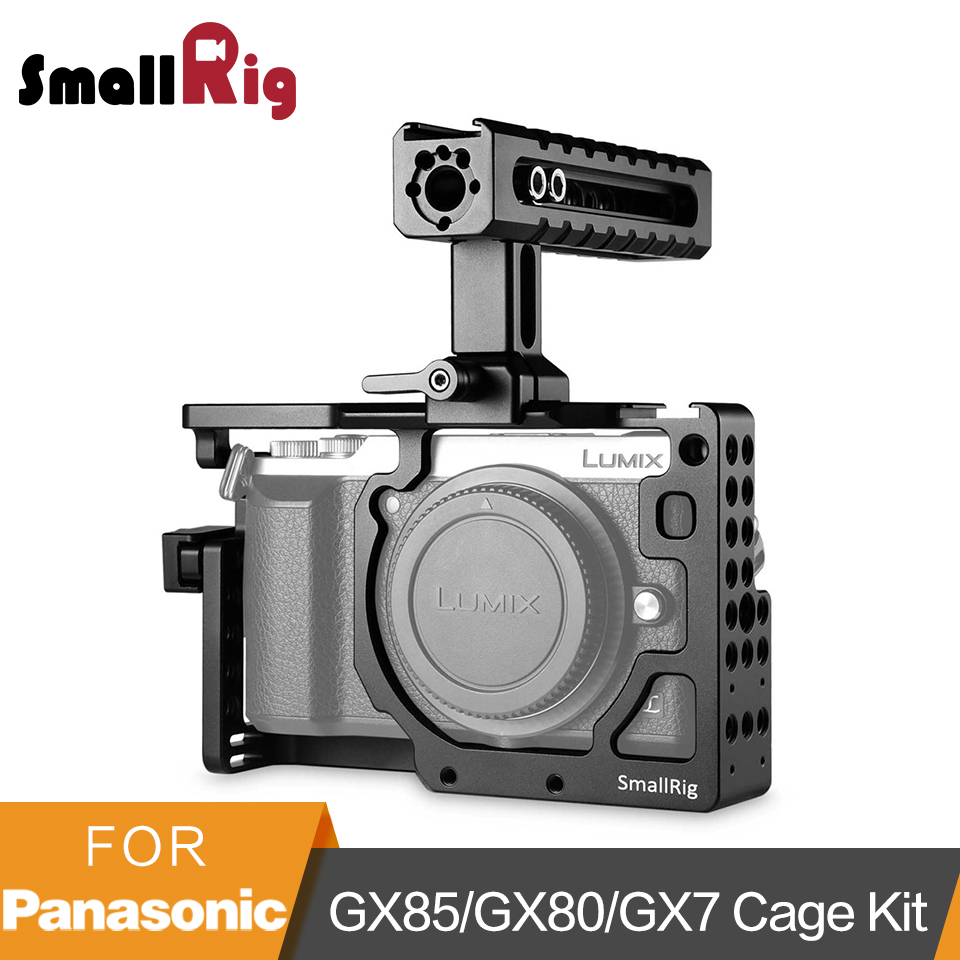 SmallRig for Panasonic Lumix DMC-GX85/GX80/GX7 Mark II Cage Kit With NATO Handle HDMI Cable Clamp -2009 panasonic lumix dmc gx80