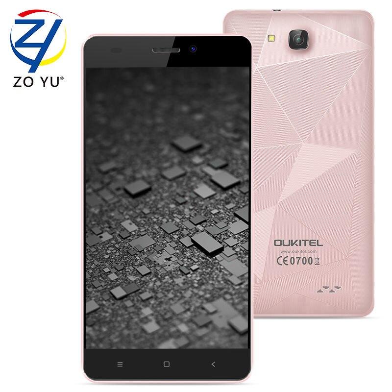 Oukitel mtk6580a c3 smartphone 3g wcdma android 6.0 malvavisco teléfono móvil 1