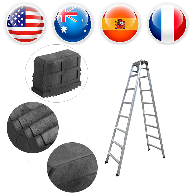 2pcs/lot Rubber Ladder Feet Non Slip Ladder Grip Feet Replacement Safty Rubber Home Ladder Feet Foot Mat Black Safe Grip Feet Construction Tools