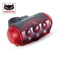 CATEYE Bicycle Safety Rear Light 10 Red LED Powerful Tail Light Cycling Rear Seat Seatpost Flashing