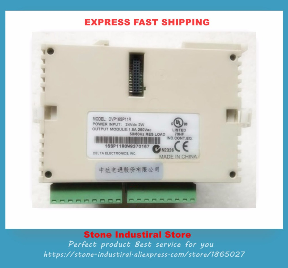 New DVP16SP11R PLC 24VDC 2W 1.5A 250VAC 16 Points 8DI 8DO Relay Original extension module new original programmable controller module dvp14ss211r plc di 8 do 6 relay 24vdc