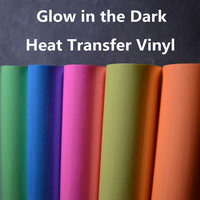 DIY T Shirt Iron On Heat Transfer Vinyl Glow In The Dark Colorful Vinyl Film 20