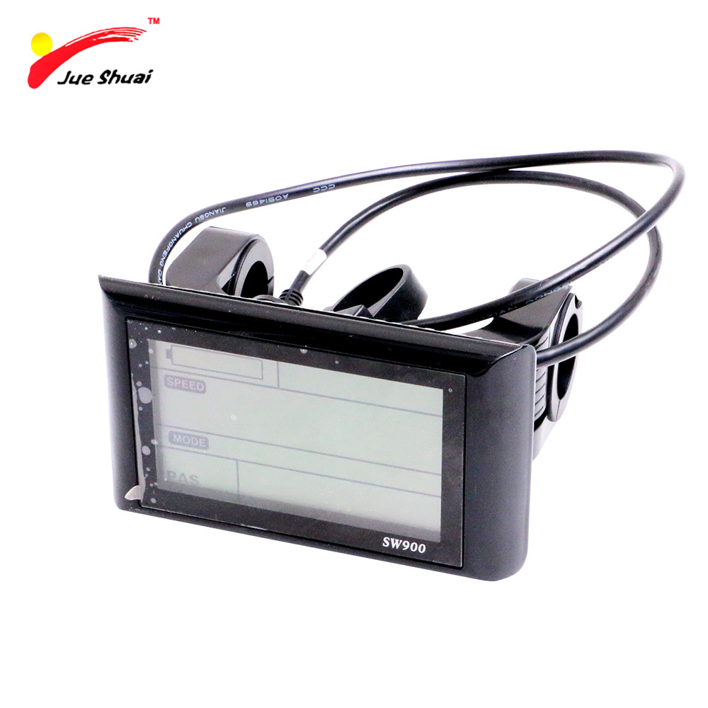 36V 48V LCD Electric Bike Display Mount on the <font><b>Handlebar</b></font> Waterproof Connector Control Panel Cycling Parts Accessory Components