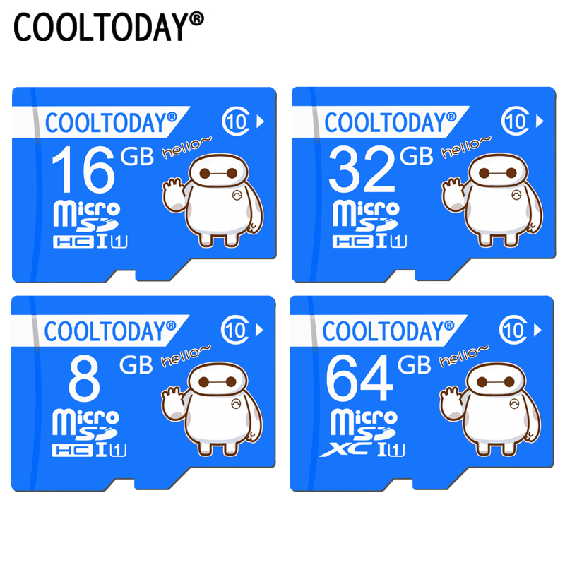 Cooltoday Baymax Top Quality Micro SD Card 8GB 16GB 64GB Class 10 Waterproof Memory Card 32GB For Phone Tablet PC Waterproof(China)