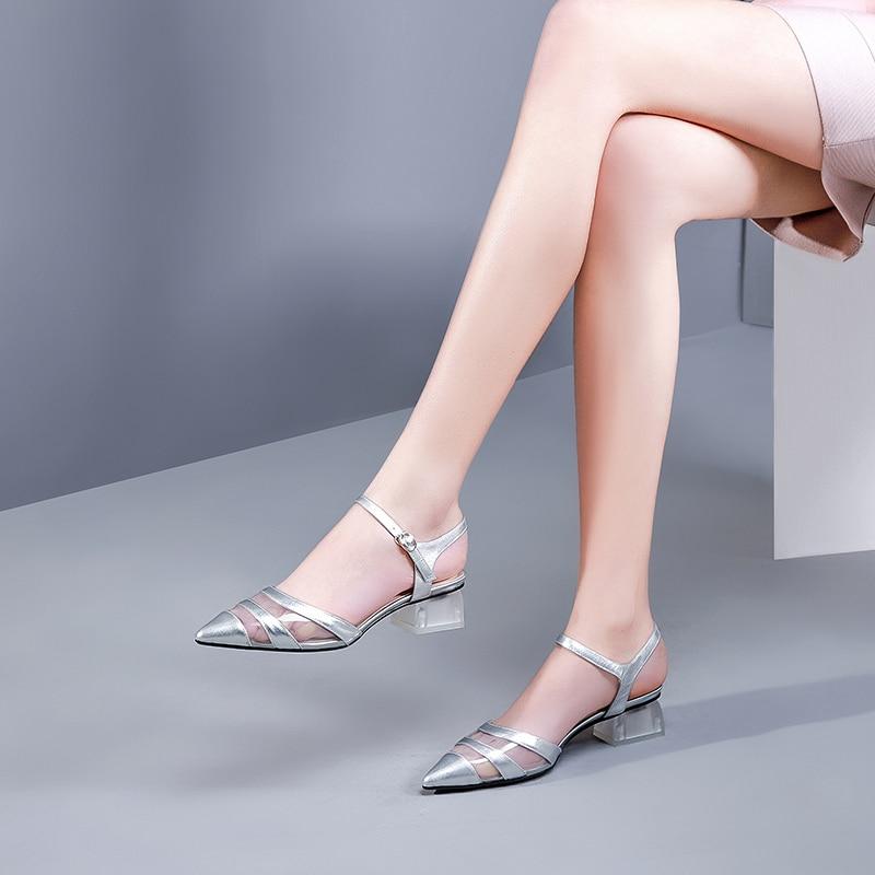 Women Shoes (High) 저 (힐 Pumps Women Shoes 펌프 2019 봄 Transparent 힐 3.5 cm-에서여성용 펌프부터 신발 의  그룹 3
