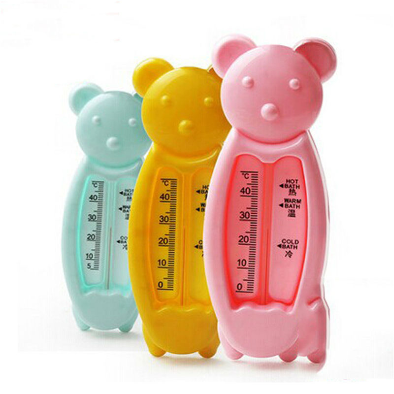 Cartoon Floating Bear Lovely Plastic Float Toy Baby Bath Tub Water Sensor Thermometer Baby Monitor tester thermometer