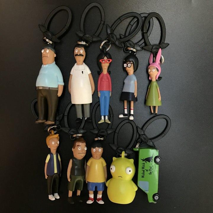 Bob burgers metal key chin bob tina gene louise cartoon characters