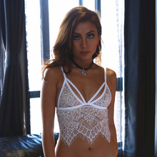 Lace Bra Top Wireless Cups Brassiere Sexy Fashion Eyelash Bralette Cute Crop Top bra Underwear Intimate Tops