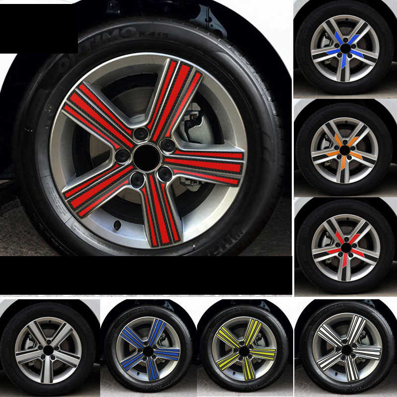 Car Wheel Hub Tire Sticker Strip Wheel Rim Tire Protection Care Covers carbon fiber Auto Accessories Parts For Volkswagen Golf 7