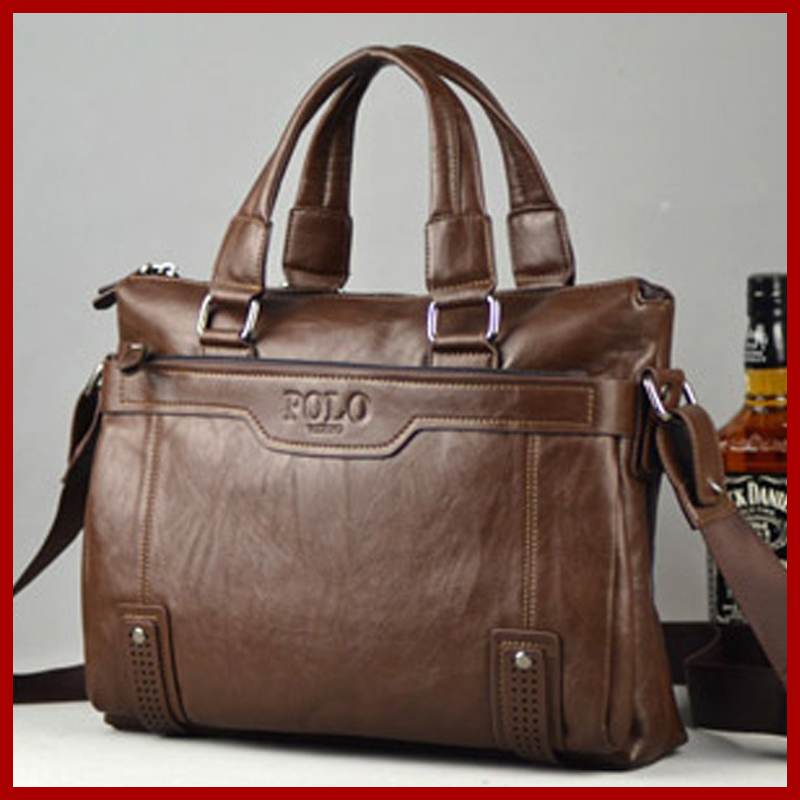 VICUNA POLO Famous Brand Leather Men Bag Casual Business