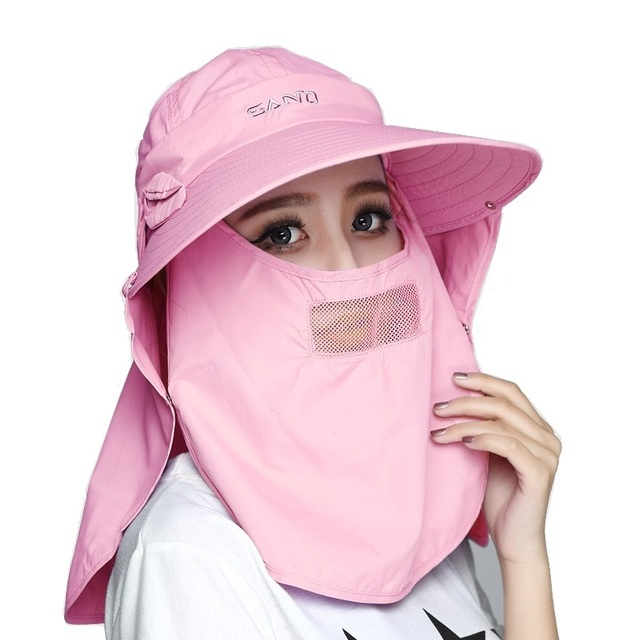 Golf Cap with Mask Dust Proof and Sun Protection Sun-shading Hat masks Anti- uv mask aa679df2906