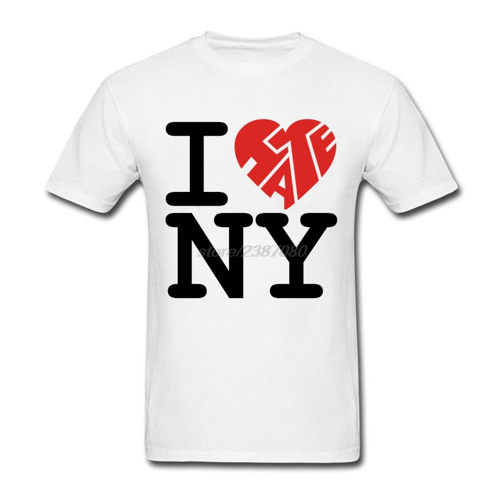 Black flag t shirt europe - Youth I Hate Ny New York City Short T Shirt Latest Pre Cotton T Shirts Funny For Man Plus Size Xs Xxxl