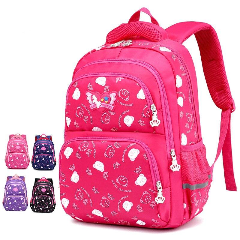 Детские школьные сумки Девушки Дети Ортопедические scoolbags Рюкзак Дети сумка Mochila Infanti начальной школы рюкзаки sac enfant P