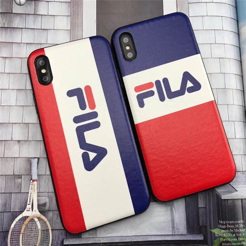 sports shoes d51a5 64c01 US $5.68 |Fashion Brand NEW Cool FILA Italy phone Case for iPhone X Xs Max  XR 7 7Plus 8 8 Plus 6 6s Plus Phone Cover TPU+PC Silicone Cases-in Fitted  ...