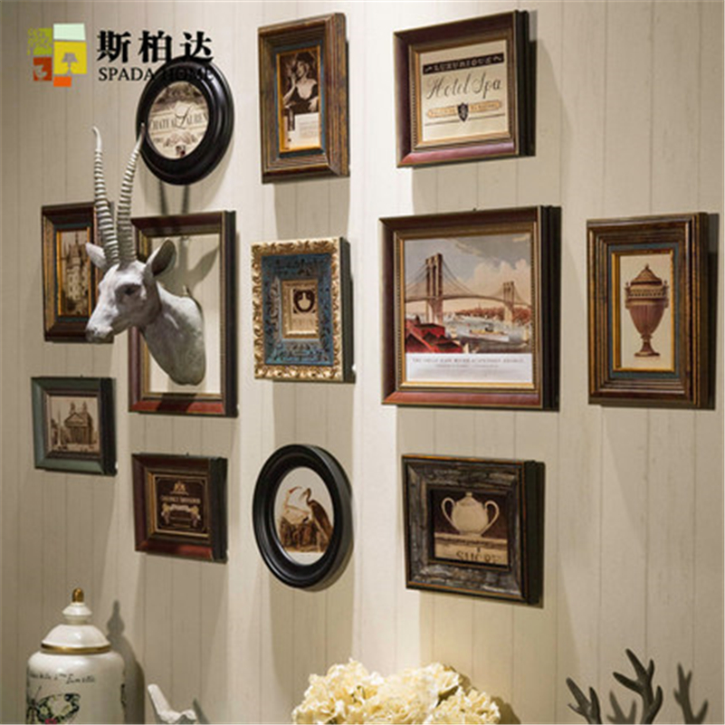 Spada 12pieces Vintage Photo Frame Wood Picture Frame