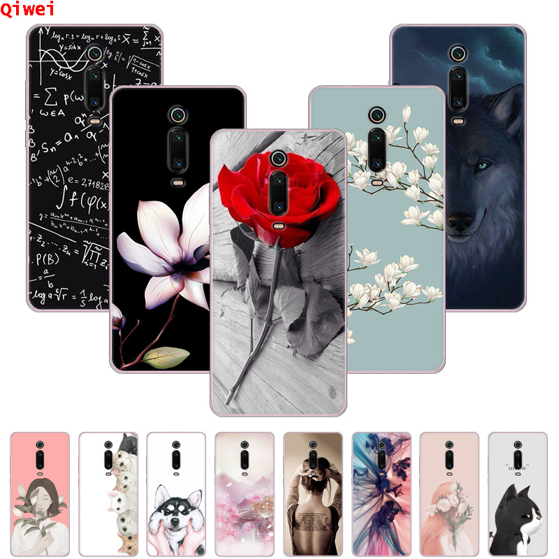 Silicone Case For <font><b>Xiaomi</b></font> <font><b>Mi</b></font> 9T Mi9T Pro Soft TPU Phone Back Cover Coque For <font><b>Xiaomi</b></font> <font><b>Mi</b></font> <font><b>9</b></font> Case Fundas On Mi9 <font><b>SE</b></font> <font><b>Mi</b></font> 9T Flower <font><b>Capas</b></font> image