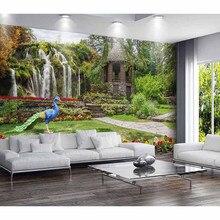 Пользовательские 3D фото обои для гостиной ТВ Фон красивый пейзаж водопад стены для стен бумаги домашний Декор#517