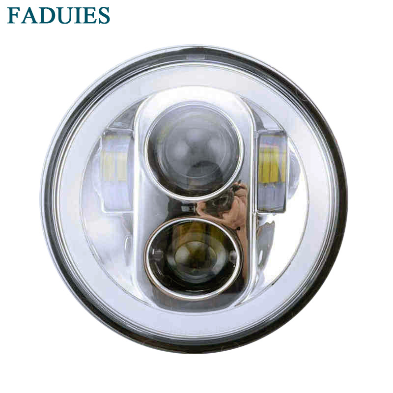 FADUIES Chrome Led Motorcycle Headlight 5.75