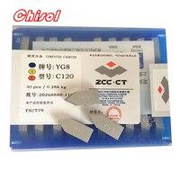 free shipping ZCC.CT 30pcs/box C120 YT5 YW2 YW1 YT15 YT14 YG6 YG8 carbide brazed inserts welding tips blade cutter