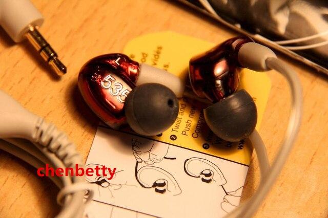 Лучшее Качество SE535 Проводной 3.5 ММ Стерео В Ухо Наушники Hifi IE800 Шумоподавлением Бас Гарнитура С Пакетом Освобождает Перевозку Груза