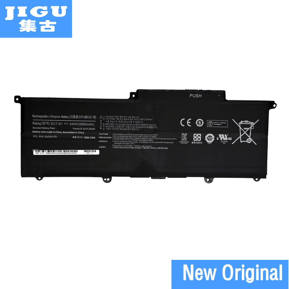 JIGU AA-PLXN4AR Original Laptop Battery For SAMSUNG For Ultrabook 900X3C 900X3D 900X3E NP900X3C NP900X3D NP900X3E 7.5V 44WH