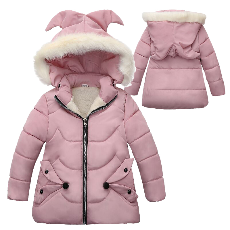 Selling Autumn Winter Warm Jackets For Girls Coats For Jackets Baby Girls Jackets Kids Hooded Outerwear Coat Children Clothes