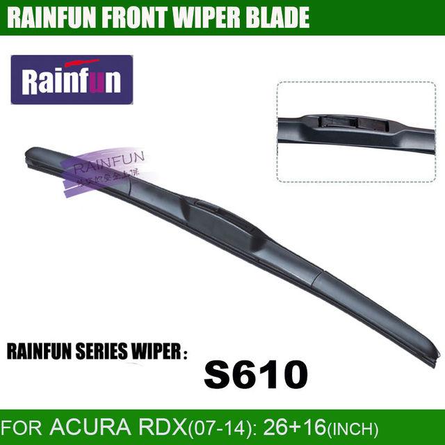 Rainfun dedicado lâmina de limpeza do carro para acura rdx, 26 + de 16 POLEGADAS Car Wiper com borracha de alta qualidade, 2 PCS um lote