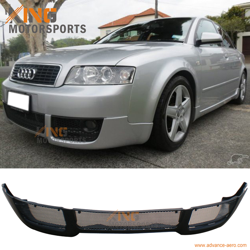 For 2002 2003 2004 Audi A4 B6 V-Style PU Front Bumper Lip Spoiler Poly Urethane Bodykit for 2001 2002 2003 2004 2005 porsche 996 911 4s coupe turbo oe style no hole carrera front bumper lip spoiler