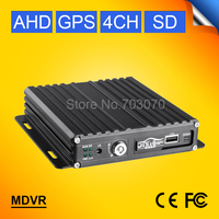 GPS 4CH AHD SD CARD Mobile Dvr 720P H 246 HD Vehicle Mobile Video Recorder I