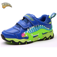 Dinoskulls 2018 New Children's Shoes Fashion LED Light Up Shoes Boys Glowing Sneakers Baby Boys Toddler Shoe Kids Led Shoe 27-34
