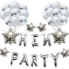 Wedding Hen Party Letter Balloons Air Bridal Shower Decoration Foil Ballons Wedding for Valentines Day Decor Baloons Favors S7MZ