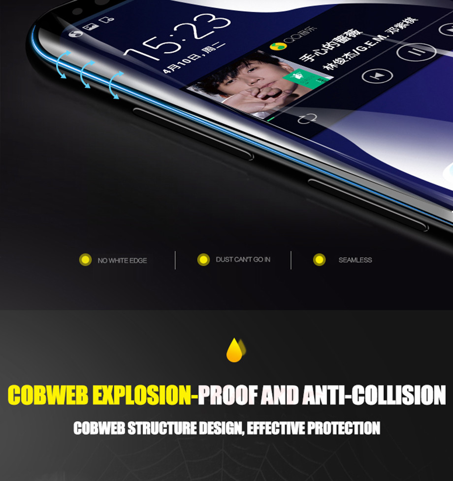 3 For Samsung Galaxy S8 S8 Plus Screen Protector For Samsung Galaxy S9 S9 Plus Screen Protector For Samsung Galaxy Note 8 Screen Protector For Samsung S6 S7 EDGE screen Protector