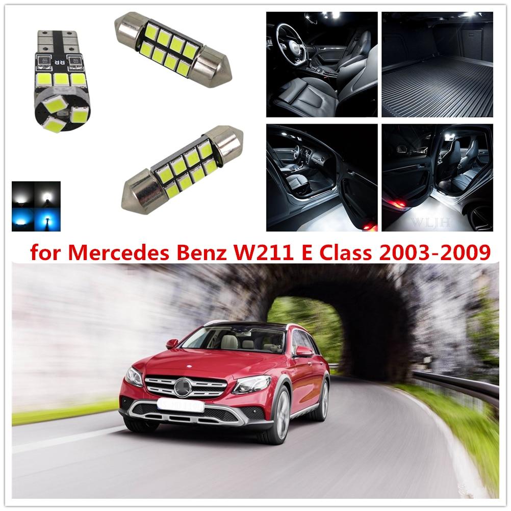 WLJH 26pcs Canbus Interior LED Car Lamp Dome Glove Lamp Bulb Trunk LED Vanity light Kit for Mercedes Benz W211 E Class 2003-2009 rear wheel hub for mazda 3 bk 2003 2008 bbm2 26 15xa bbm2 26 15xb bp4k 26 15xa bp4k 26 15xb bp4k 26 15xc bp4k 26 15xd