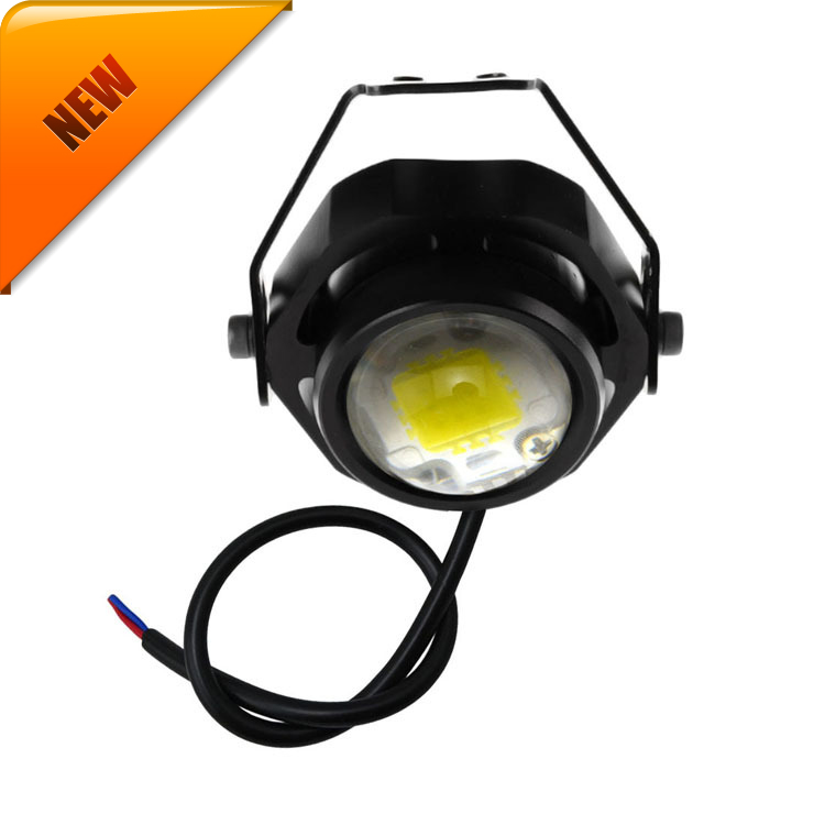 Led Car Fog Lamp Super Bright 1000LM 10W DRL Eagle Eye Light Daytime Running Lights Reverse Backup Parking Waterproof  Warning leadtops car led lens fog light eye refit fish fog lamp hawk eagle eye daytime running lights 12v automobile for audi ae