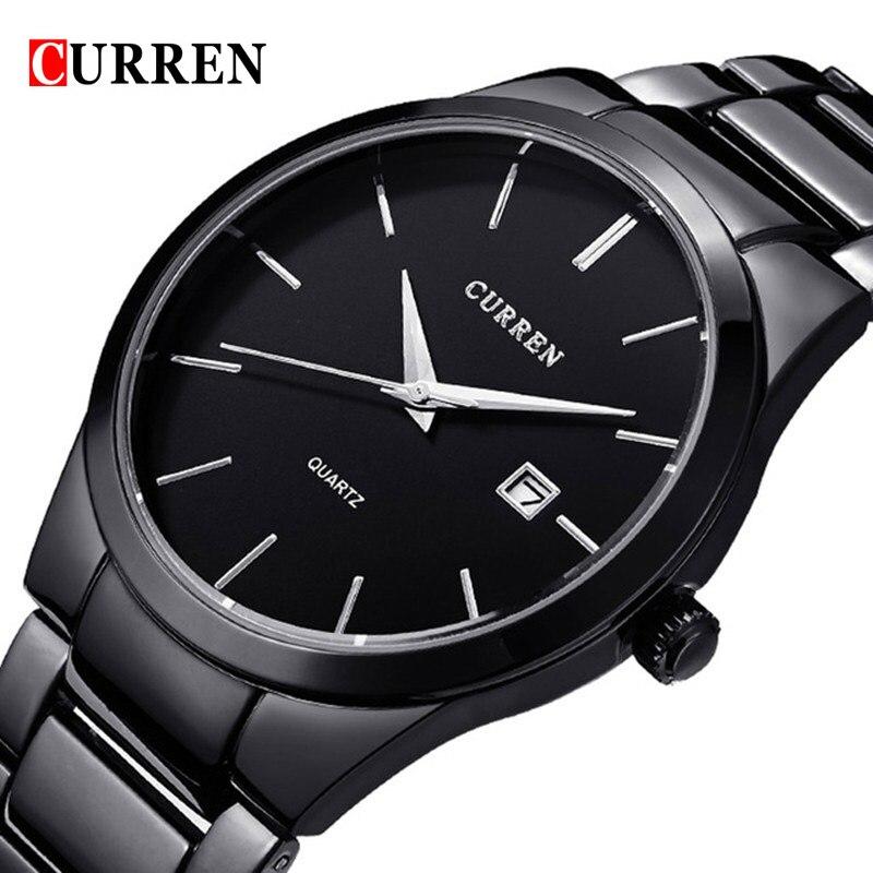 все цены на CURREN Fashion Men Watch Waterproof Quartz Wristwatch Mens Watches Top Brand Luxury Date Male Clock Stainless Steel Watch Men