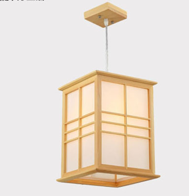 Modern brief Japanese wood LED pendant light fixture home deco living room tatami sheepskin E27 bulb pendant lamp furnishings brief modern k9 crystal flower pendant light fixture european fashion home deco living room diy glass pendant lamp