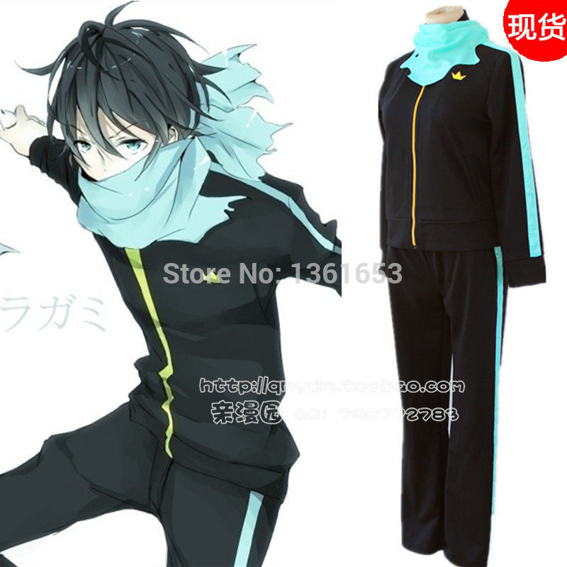 anime Noragami Cosplay Yato Cosplay Costumes  halloween costumes for man or women Sport Suit +Scarf Costumes