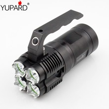YUPARD outdoor sport fishing camping Bright 4* XM-L T6 LED Flashlight Torch Spotlight Searchlight 18650 rechargeable battery