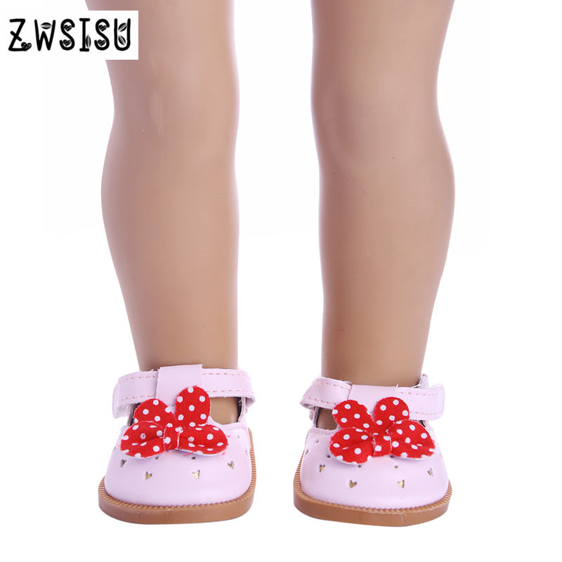 3pcs Color Mini Doll Shoes, Cute Bow Princess Shoes For 18inch American Doll Accessories