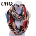 Designer Brand Fashion Infinity Scarfs Winter Warm Plaid Print Tube Scarves For Women V8A18213