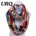 Diseñador de la Marca de Moda Infinito Bufandas de Invierno Cálido Plaid Imprimir Bufandas Tubulares Para Mujeres V8A18213