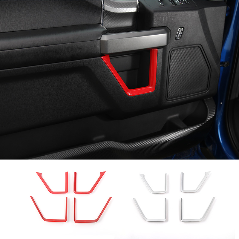 MOPAI ABS Car Inner Door Panel Strips Decoration Trim Cover Interior Moulding Stickers For Ford F150 2015 Up Car Styling цена