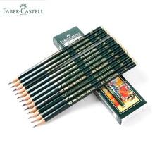 Faber castell 12 adet marka (6H 8B) eskiz ve çizim kalem kişiselleştirilmiş standart kalemler siyah çizim kalem