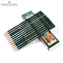 Faber castell lápices de dibujo y bocetos, personalizados, estándar, color negro, 12 uds. (6H 8B)