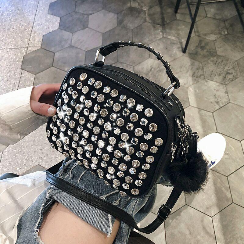 Женские роскошные кожаные сумки из натуральной кожи от известного дизайнера, для девушек, Женская сумочка, на плечо, сумка 2019 Новинки для девочек сцепления со стразами сумка через плечо sac основная femme|Сумки с ручками|   | АлиЭкспресс