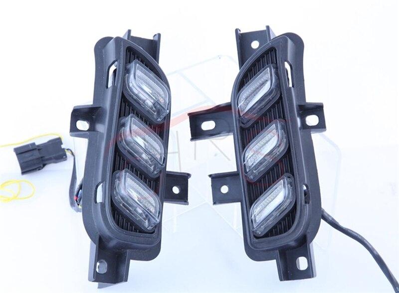 стайлинга автомобилей светодиодными фарами дневного света с беспроводной пульт управления для Киа К3 2016 LED дневного DRL свет