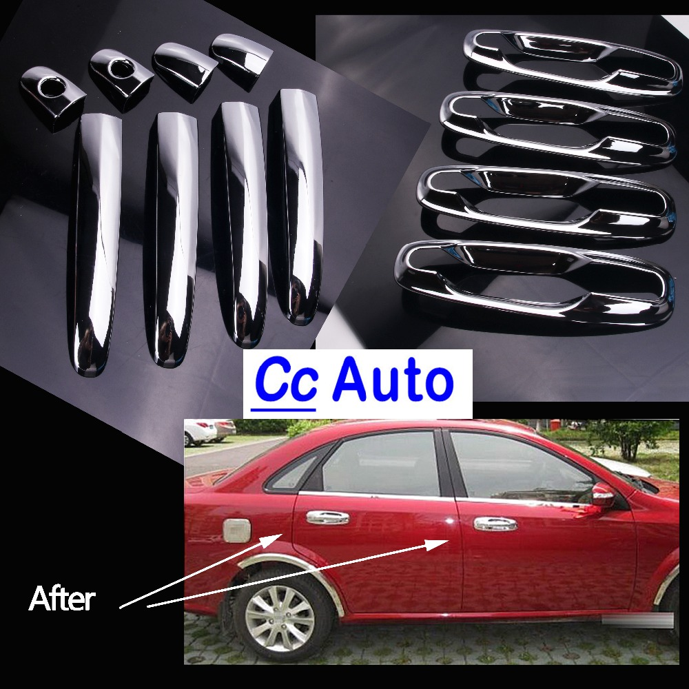 Car Door Handles Covers For Chevrolet Lacetti Optra Daewoo Nubira Suzuki Forenza Holden Stickers Chrome Exterior Q-047