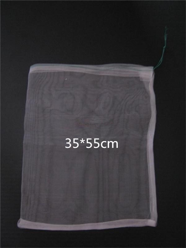 50pcs lot 35 55 40 Mesh Nylon bag Fish Fruit wristband bag Insect birds pest filter