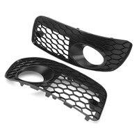 Pair Car Honeycomb Grilles Hex Mesh Fog Light Open Vent Grilles For VW for Jetta MK5 GTI GLI